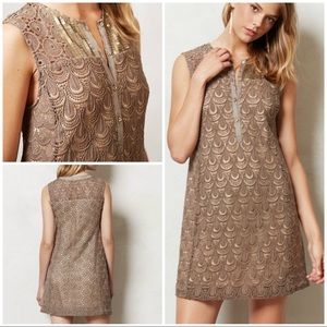 EUC TINY Shimmered Crochet Sequin Lace Dress 2P